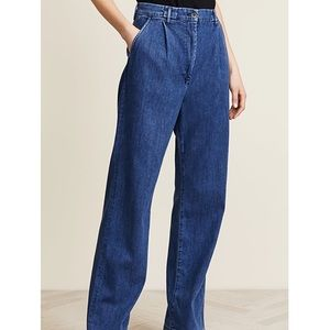 3x1 pleated oversized trousers denim. Size 28. NWT